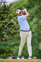 Jim Herman (USA) watches his tee shot on 2 during Saturday's round 3 of the PGA Championship at the Quail Hollow Club in Charlotte, North Carolina. 8/12/2017.<br /> Picture: Golffile | Ken Murray<br /> <br /> <br /> All photo usage must carry mandatory copyright credit (&copy; Golffile | Ken Murray)