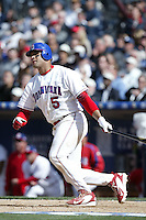 Albert Pujols of the Dominican Republic during semi final game against Cuba during the World Baseball Championships at Petco Park in San Diego,California on March 18, 2006. Photo by Larry Goren/Four Seam Images