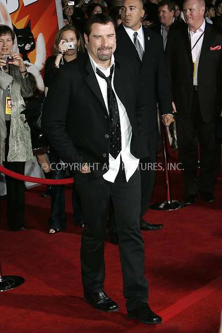 WWW.ACEPIXS.COM . . . . . ....November 17 2008, LA....Actor John Travolta arriving at the premiere of 'Bolt' on November 17, 2008 in Hollywood, California.....Please byline: JOE WEST- ACEPIXS.COM.. . . . . . ..Ace Pictures, Inc:  ..(646) 769 0430..e-mail: info@acepixs.com..web: http://www.acepixs.com