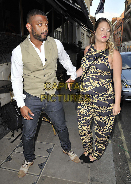 LONDON, ENGLAND - JULY 15: Jonathan JB Gill &amp; Chloe Tangney attend the Mike Hough's EP &quot;Lost In Love&quot; launch party, Sanctum Soho Hotel, Warwick St., on Tuesday July 15, 2014 in London, England, UK.<br /> CAP/CAN<br /> &copy;Can Nguyen/Capital Pictures