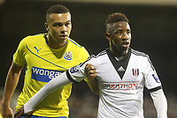 Remie Streete of Newcastle and Fulham's Moussa Dembele