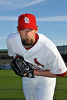 Mar 01, 2010; Jupiter, FL, USA; St. Louis Cardinals pitcher Josh Kinney (52) during  photoday at Roger Dean Stadium. Mandatory Credit: Tomasso De Rosa/ Four Seam Images