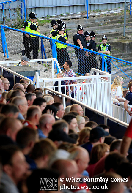 Hartlepool United 0 Sunderland 3, 20/07/2016. Victoria Park, Pre Season Friendly. Police watching the game. Photo by Paul Thompson.