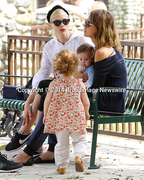 Pictured: Jaime King, James, Jessica Alba, Haven<br /> Mandatory Credit &copy; ACLA/Broadimage<br /> Jessica Alba and Jaime King at the Coldwater Canyon Park in Beverly Hills<br /> <br /> 3/29/14, Beverly Hills, California, United States of America<br /> <br /> Broadimage Newswire<br /> Los Angeles 1+  (310) 301-1027<br /> New York      1+  (646) 827-9134<br /> sales@broadimage.com<br /> http://www.broadimage.com