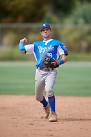Nathan Chester (19) during the WWBA World Championship at the Roger Dean Complex on October 13, 2019 in Jupiter, Florida.  Nathan Chester attends Liberty North High School in Liberty, MO and is committed to Missouri.  (Mike Janes/Four Seam Images)