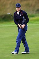Ally McDonald (USA) on the 1st green during Day 3 Singles at the Solheim Cup 2019, Gleneagles Golf CLub, Auchterarder, Perthshire, Scotland. 15/09/2019.<br /> Picture Thos Caffrey / Golffile.ie<br /> <br /> All photo usage must carry mandatory copyright credit (© Golffile | Thos Caffrey)