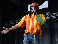 "Largo, MD - July 12, 2014: A.J. Brown, lead singer of Grammy nominated band Third World, performs at the 1st annual International Festival at the Largo Town Center in Largo, MD, July 12, 2014. The group is best known for its charting hits ""Now The We Found Love"" and ""Try Jah Love."" (Photo by Don Baxter/Media Images International)"