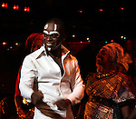 Sahr Ngaujah & Company.during the opening night Curtain Call for the Broadway limited engagement of 'Fela!' at the Al Hirschfeld Theatre on July 12, 2012 in New York City.