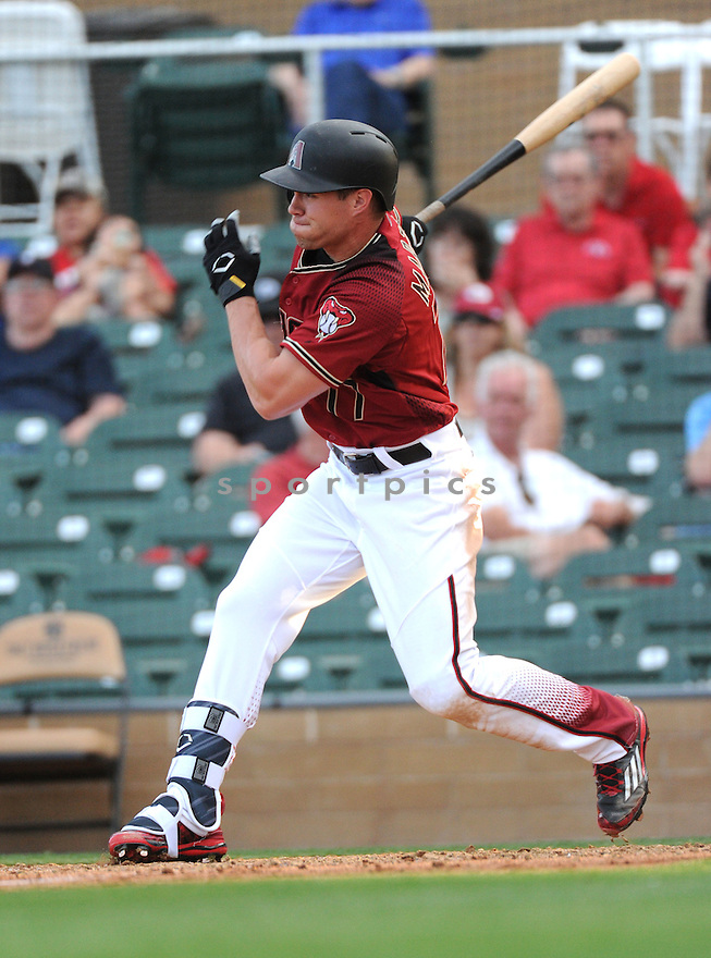 Arizona Diamondbacks Evan Marzilli (77) during a preseason game against the Arizona Wildcats on March 1, 2016 at Salt River Fields at Talking Stick in Scottsdale, AZ. The Diamondbacks beat the Wildcats 5-12..