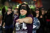 05.12.2019 - Mulheres fazem performance chilena contra o estupro em SP