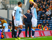 Blackburn Rovers manager Tony Mowbray shouts instructions to his team from the technical area<br /> <br /> Photographer Alex Dodd/CameraSport<br /> <br /> The EFL Sky Bet Championship - Blackburn Rovers v Rotherham United - Saturday 10th November 2018 - Ewood Park - Blackburn<br /> <br /> World Copyright &copy; 2018 CameraSport. All rights reserved. 43 Linden Ave. Countesthorpe. Leicester. England. LE8 5PG - Tel: +44 (0) 116 277 4147 - admin@camerasport.com - www.camerasport.com