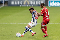 Fulham's Bobby Reid competing with West Bromwich Albion's Grady Diangana (left) <br /> <br /> Photographer Andrew Kearns/CameraSport<br /> <br /> The EFL Sky Bet Championship - West Bromwich Albion v Fulham - Tuesday July 14th 2020 - The Hawthorns - West Bromwich <br /> <br /> World Copyright © 2020 CameraSport. All rights reserved. 43 Linden Ave. Countesthorpe. Leicester. England. LE8 5PG - Tel: +44 (0) 116 277 4147 - admin@camerasport.com - www.camerasport.com