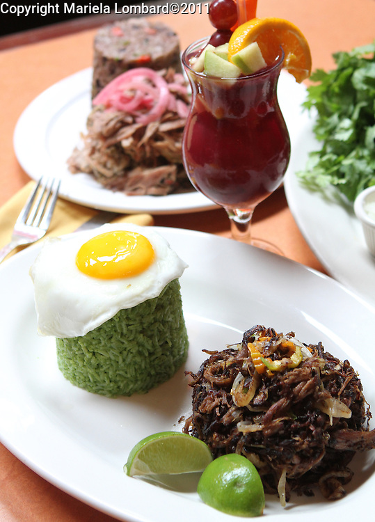 Crispy Shredded Beef (Vaca Frita) and Mojito..Havanna Central Executive Chef Stanley Licairac..Havanna Central located at 2911 Broadway in Manhattan..