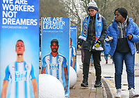 A general view outside of the John Smith's Stadium, home of Huddersfield Town<br /> <br /> Photographer Alex Dodd/CameraSport<br /> <br /> The Premier League - Huddersfield Town v Swansea City - Saturday 10th March 2018 - John Smith's Stadium - Huddersfield<br /> <br /> World Copyright &copy; 2018 CameraSport. All rights reserved. 43 Linden Ave. Countesthorpe. Leicester. England. LE8 5PG - Tel: +44 (0) 116 277 4147 - admin@camerasport.com - www.camerasport.com