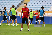 Wednesday 07 August 2013<br /> Pictured: Manager Michael Laudrup at the Malmo Stadium, Sweden.<br /> Re: Swansea City FC travelling to Sweden for their Europa League 3rd Qualifying Round, Second Leg game against Malmo.