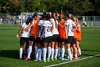 Kansas City, MO - Sunday September 3, 2017: Sky Blue FC  during a regular season National Women's Soccer League (NWSL) match between FC Kansas City and Sky Blue FC at Children's Mercy Victory Field.