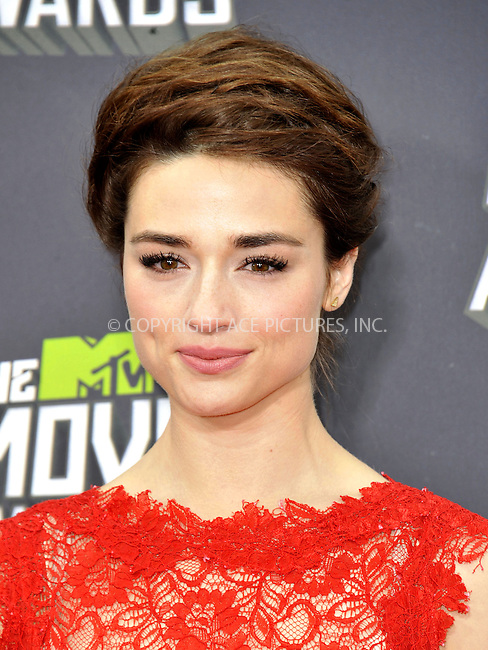 WWW.ACEPIXS.COM....April 14, 2013, Los Angeles, Ca.......Crystal Reed arriving at the 2013 MTV Movie Awards at Sony Pictures Studios on April 14, 2013 in Culver City, California.......By Line: Peter West/ACE Pictures....ACE Pictures, Inc..Tel: 646 769 0430..Email: info@acepixs.com