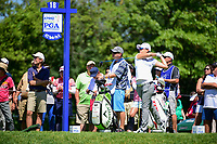Jeong Eun Lee (KOR) watches her tee shot on 18 during Saturday's round 3 of the 2017 KPMG Women's PGA Championship, at Olympia Fields Country Club, Olympia Fields, Illinois. 7/1/2017.<br /> Picture: Golffile | Ken Murray<br /> <br /> <br /> All photo usage must carry mandatory copyright credit (&copy; Golffile | Ken Murray)