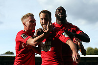 James Dayton celebrates after scoring O's 2nd goal during Leyton Orient vs Barnet, Vanarama National League Football at The Breyer Group Stadium on 15th September 2018