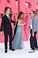 Ansel Elgort, Lily James and Kevin Spacey<br /> at the &quot;Baby Driver&quot; premiere, Cineworld Empire Leicester Square, London. <br /> <br /> <br /> &copy;Ash Knotek  D3285  21/06/2017