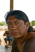Pará State, Brazil. Aldeia Kikretum. Beptori Kayapó, son of Djiope Kayapó.