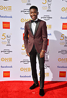 LOS ANGELES, CA. March 30, 2019: Niles Fitch at the 50th NAACP Image Awards.<br /> Picture: Paul Smith/Featureflash