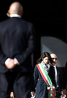 La sindaca di Roma Virginia Raggi arriva alla messa di Papa Francesco in occasione della conclusione del Giubileo della Misericordia, in Piazza San Pietro, Citta' del Vaticano, 20 novembre 2016.<br /> Rome's Mayor Virginia Raggi arrives for the Pope Francis' Mass on the occasion of the conclusion of the Jubilee of Mercy, in St. Peter's Square at the Vatican, 20 November 2016.<br /> UPDATE IMAGES PRESS/Isabella Bonotto<br /> <br /> STRICTLY ONLY FOR EDITORIAL USE