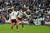 Michail Antonio of West Ham Matthew Lowton of Burnley  during West Ham United vs Burnley, Premier League Football at The London Stadium on 10th March 2018