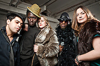 Abnormally Funky photoshoot at Dalston Heights in London.