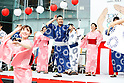 Shigehiro Ide, <br /> JULY 24, 2017 : <br /> Event for Tokyo 2020 Olympic and Paralympic games is held <br /> at Toranomon hills in Tokyo, Japan. <br /> &quot;Tokyo Olympic Ondo&quot; will be renewed as Tokyo Olympic Ondo - 2020 -&quot;.<br /> (Photo by Yohei Osada/AFLO SPORT)