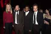 """West Wing"" cast members pose for a group photo before attending the Bloomberg party following the White House Correspondents Association Dinner at the Trade Ministry of The Russian Federation in Washington, D.C. on April 28, 2001. From left to right: Janel Maloney, Richard Schiff, Dulé Hill, and Bradley Whitford. .Credit: Ron Sachs / CNP"