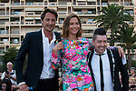 Vincent Cerutti, Sandrine Quetier and Chris Marques attend a photocall during the 54th Monte-Carlo Television Festival at Grimaldi Forum on June 8, 2014 in Monte-Carlo, Monaco.