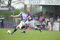 VOETBAL: WOLVEGA: 03-05-2015, FC FC Wolvega - VV Heerenveen, Ivar Spar (#12), Erik Stoelwinder (#15), uitslag 0-0, ©foto Martin de Jong