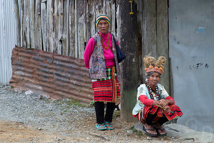 Traditional Ifugao women Banaue Mountain Province Rice Terraces Philippines