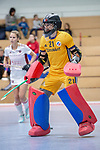 Mannheim, Germany, December 01: During the Bundesliga indoor women hockey match between Mannheimer HC and Nuernberger HTC on December 1, 2019 at Irma-Roechling-Halle in Mannheim, Germany. Final score 7-1. (Copyright Dirk Markgraf / 265-images.com) *** Lisa Schneider #21 of Mannheimer HC