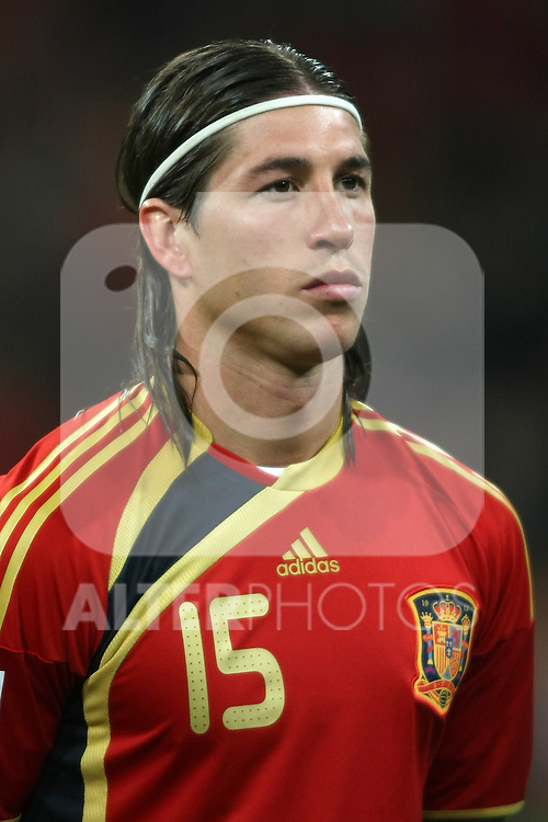 Spain's Sergio Ramos during international match.March 28 2009. (ALTERPHOTOS/Acero).