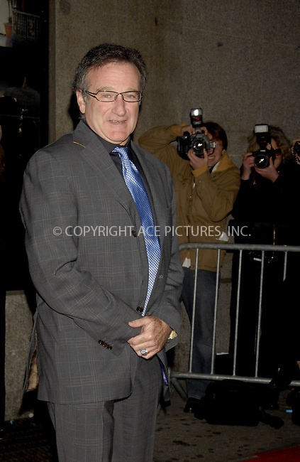 WWW.ACEPIXS.COM . . . . ....December 7, 2007, New York City....Robin Williams attends the NY Film Critics Awards.....Please byline: KRISTIN CALLAHAN - ACEPIXS.COM.. . . . . . ..Ace Pictures, Inc:  ..(212) 243-8787 or (646) 679 0430..e-mail: picturedesk@acepixs.com..web: http://www.acepixs.com