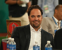 Former New York Mets great Mike Piazza during the MLB Draft on Thursday June 05,2014 at Studio 42 in Secaucus, NJ.   (Tomasso DeRosa/ Four Seam Images)