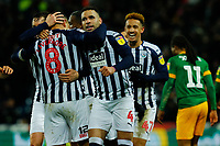 25th February 2020; The Hawthorns, West Bromwich, West Midlands, England; English Championship Football, West Bromwich Albion versus Preston North End; West Bromwich Albion players celebrate Jake Livermore's goal after 44 minutes for 2-0
