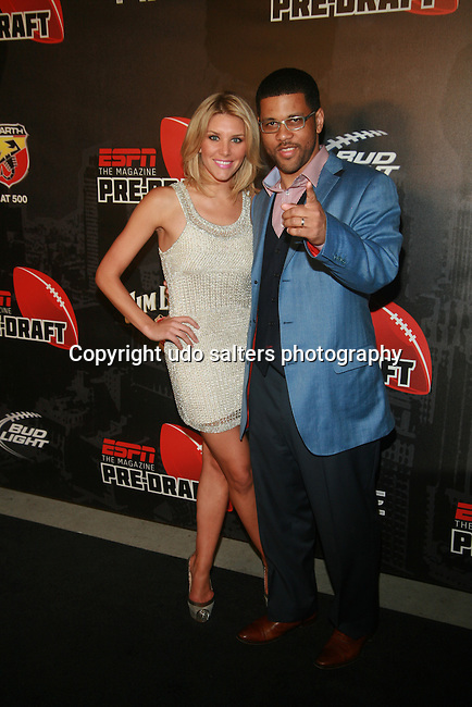 ESPN Charissa Thompson and Michael Smith  Attend ESPN The Magazine Presents the Ninth Annual Pre-Draft Party at The Waterfront,   NY   4/25/12
