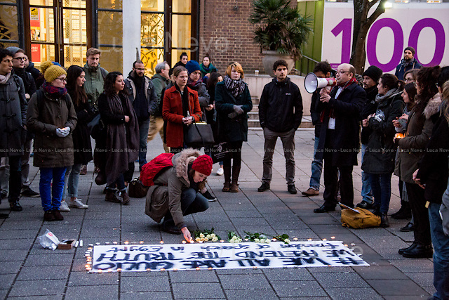 Dr Richard Alexander (Lecturer in Financial Law at SOAS).<br /> <br /> London, 10/02/2016. Today, SOAS (School of Oriental and African Studies) students held a vigil to pay tribute to Giulio Regeni, the Italian student and researcher kidnapped and killed in Cairo, Egypt. The body of the 28-year-old Cambridge PhD student was found on a Cairo road on Wednesday 3rd of February 2016. According to the autopsy, Giulio died after a vertebra in his neck was fractured. Moreover, his body - found on the Cairo-Alexandria desert road - shown signs of tortures, abrasions - including marks similar to cigarette burns - and fractures. From the organisers Facebook page: &lt;&lt; Less than a week ago we came to know that Giulio, a student which could have been any of us, was brutally murdered in Cairo where he was pursuing his Phd from Cambridge. What we know, is that he was carrying out research on Egyptian trade unions and that he published some articles in a left Italian newspaper which might have put him into trouble with the current country's regime. Unfortunately, what we probably will never know, is the truth behind his death. [&hellip;]&gt;&gt;.<br /> <br /> For more information please click here: https://www.facebook.com/events/777504655685045/<br /> <br /> To sign the petition and for more information please click here: https://www.change.org/p/let-the-truth-emerge-justiceforgiulio-giulioregeni-whereisgiulio#petition-letter