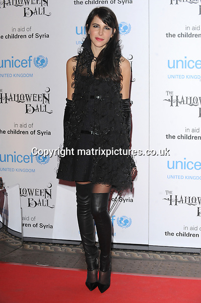NON EXCLUSIVE PICTURE: PAUL TREADWAY / MATRIXPICTURES.CO.UK<br /> PLEASE CREDIT ALL USES<br /> <br /> WORLD RIGHTS<br /> <br /> Austrian fashion stylist Caroline Sieber attending the UNICEF Halloween Ball at London's One Mayfair.<br /> <br /> OCTOBER 31st 2013<br /> <br /> REF: PTY 137081