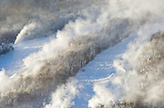Franconia Notch State Park - Snow making at Cannon Mountains in the White Mountains, New Hampshire.