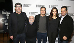 Director Terry Kinney, Danny DeVito, Mark Ruffalo, Jessica Hecht and Tony Shalhoub attend the photocall for the Roundabout Theater Company production of Arthur Miller's 'The Price' at The Roundabout Theatre Studios on January 19, 2017 in New York City.
