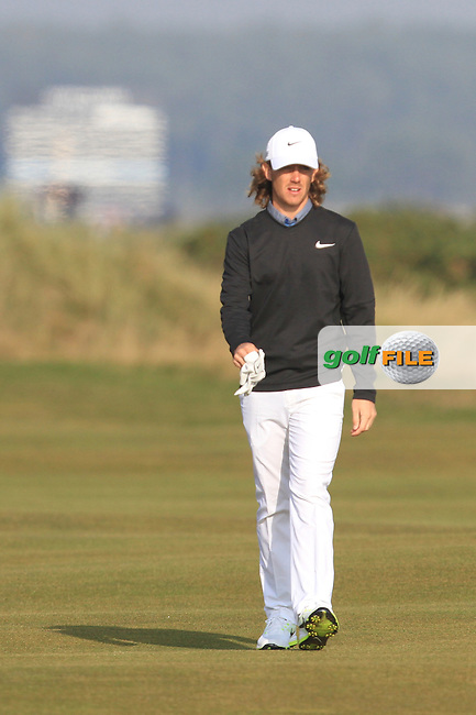 Tommy Fleetwood (ENG) on the 14th fairway during Round 4 of the 2015 Alfred Dunhill Links Championship at the Old Course in St. Andrews in Scotland on 4/10/15.<br /> Picture: Thos Caffrey | Golffile