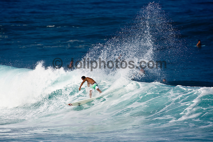 FRED PATACCHIA (HAW) surfing at Banzai Pipeline, North Shore of Oahu, Hawaii. Photo: joliphotos.com