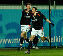27/11/2004  Copyright Pic : James Stewart.File Name : jspa07_falkirk_v_ross_county.DANIEL MCBREEN CELEBRATES WITH DARRYL DUFFY AFTER HE SCORES FALKIRK'S EQUALISER.....Payments to :.James Stewart Photo Agency 19 Carronlea Drive, Falkirk. FK2 8DN      Vat Reg No. 607 6932 25.Office     : +44 (0)1324 570906     .Mobile   : +44 (0)7721 416997.Fax         : +44 (0)1324 570906.E-mail  :  jim@jspa.co.uk.If you require further information then contact Jim Stewart on any of the numbers above.........
