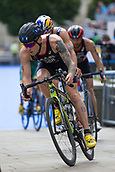 June 11th 2017, Leeds, Yorkshire, England; ITU World Triathlon Leeds 2017; Thomas Bishop competes in the cycling phase around Leeds city centre