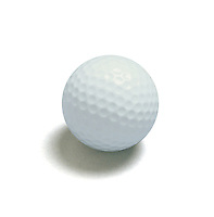 Plain white golf ball.