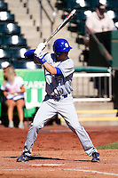 Ryan Walterhouse (17) of the Indiana State Sycamores at bat during a game against the Evansville Purple Aces in the 2012 Missouri Valley Conference Championship Tournament at Hammons Field on May 23, 2012 in Springfield, Missouri. (David Welker/Four Seam Images)